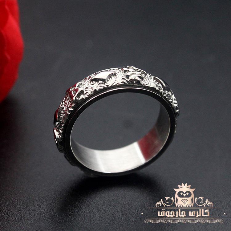 حلقه انگشتر مردانه طرح یوزا