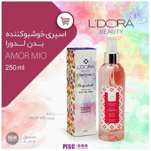 اسپری خوشبوکننده بدن زنانه لدورا مدل Amor Mio 250ml