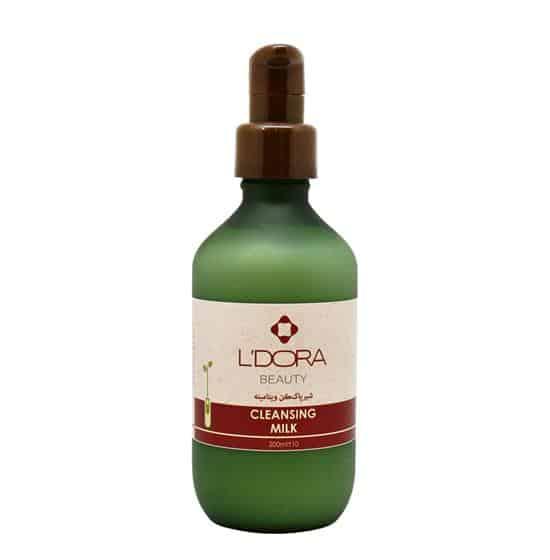 شیرپاککن ویتامینه لدورا یک پاککننده مناسب برای پوست صورت است و بهراحتی آرایشهای ضد آب را نیز پاک میکند.