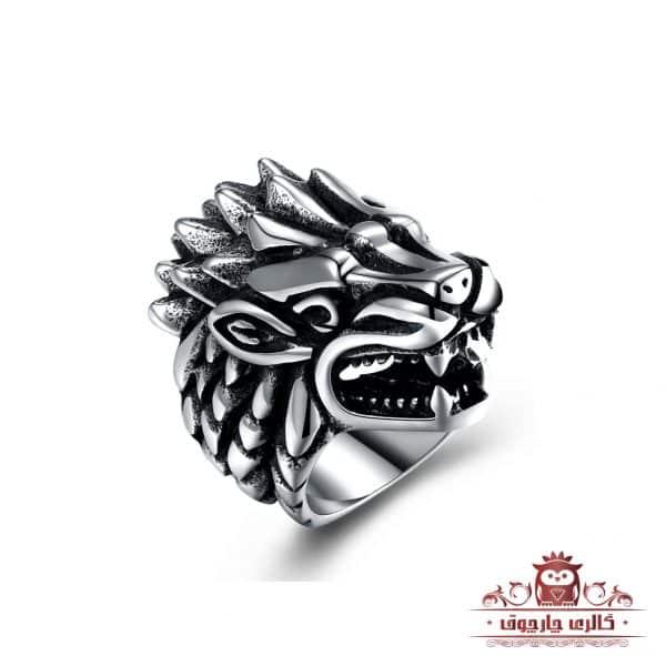 انگشتر مردانه طرح گرگ (Wolf) برند گامویا