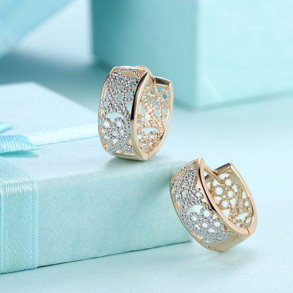 گوشواره پلاتینیوم طرح جواهر حلقهای